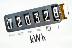 Electric meter close-up Stock Photo