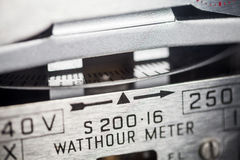 Electric meter close-up Royalty Free Stock Photos