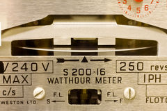 Electric Meter Dials. Close-up of electricity meter dials Royalty Free Stock Image
