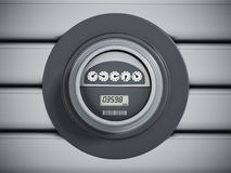 Electric meter with LCD panel Stock Images
