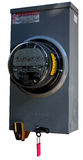 Electric Meter With Lock. Electric company secure electric meter with lock Stock Image