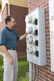 Electric Meter Service Stock Image