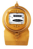 Electric meter on white Stock Photo