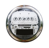 Electric Meter With Clipping Path Royalty Free Stock Photography