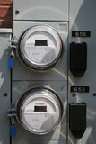 Electric Meters. Pair of commercial electric meters Royalty Free Stock Images