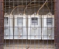 Electric meters Stock Image