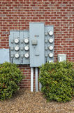Electric Meters for a Multi-family Apartment Building Royalty Free Stock Photography
