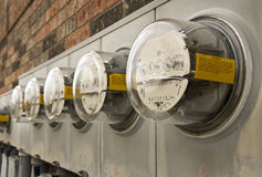 Electric Meters For Multi-Family Apartments 2 Stock Photo