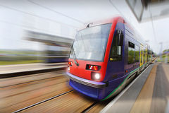 Electric metro tram Royalty Free Stock Photos
