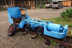 An electric mining locomotive at jade city Stock Photos