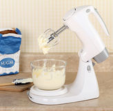 Electric Mixer Making Icing Stock Photography