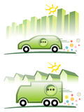 Electric mobility. Symbolic illustration for electric mobility royalty free illustration
