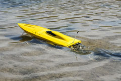 Electric model boat Royalty Free Stock Photos