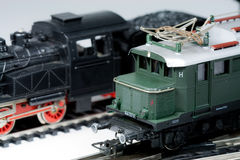 Model trains. These are electric model trains HO scale 1:87 Stock Photography