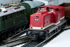 Model trains. These are electric model trains HO scale 1:87 Royalty Free Stock Photos