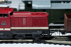 Model trains. These are electric model trains HO scale 1:87 Royalty Free Stock Images