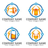 Electric Modern Concept Logo Royalty Free Stock Photos