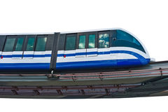 Electric monorail train modern public transport Royalty Free Stock Photos