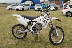 Electric motocross motorcycle Stock Photography