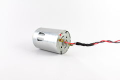 Electric motor. Single electric motor with power cables attached Stock Photography