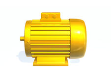 Electric motor. 3d render image with a electric motor royalty free illustration