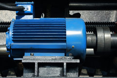 Electric Motor. The motor is running in the production line Stock Photo