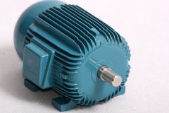 Electric motor. An image showing the shaft end view of a model of an electric motor Stock Photography