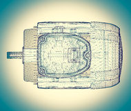 Electric motor on background Royalty Free Stock Images