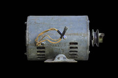 Electric motor. On black background royalty free stock images