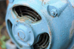 Electric motor. Electric blue old motor detail Stock Images