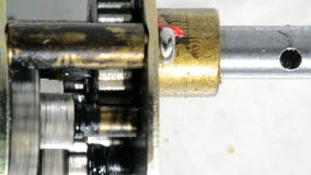 Electric motor gear box Stock Image