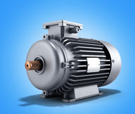 Electric motor generator 3d illustration. On a gradient Stock Images