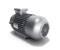 Electric motor generator 3d illustration on a white background. Electric motor generator 3d illustration on a white Royalty Free Stock Photo