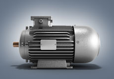 Electric motor generator 3d render on a gradient background. Electric motor generator 3d render on a gradient Stock Image