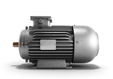 Electric motor generator 3d render on a white background Royalty Free Stock Images
