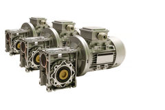 Electric motor and hydraulic pump to build complex technical systems Royalty Free Stock Images