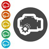 Electric motor icon. Simple vector icons set Royalty Free Stock Photos