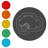 Electric motor icon. Simple  icons set Royalty Free Stock Photos