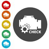 Electric motor icon. Simple  icons set Royalty Free Stock Photography