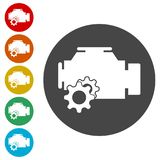 Electric motor icon. Simple  icons set Royalty Free Stock Photo