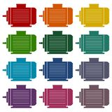 Electric motor icons set. Vector icon Stock Image