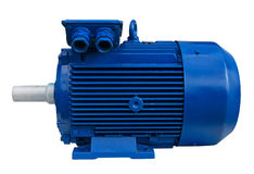 Electric motor. Isolated. Clipping path included Royalty Free Stock Photos