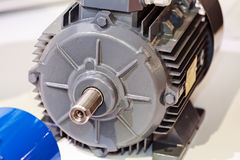 Electric motor. Large and powerful electric motor in modern industrial equipment plant stock photography