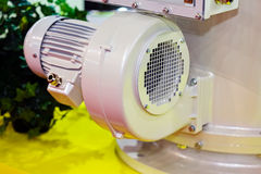 Electric motor. Large and powerful electric motor in modern industrial equipment plant royalty free stock photos