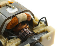 Electric motor. Plastic casing object  white background Royalty Free Stock Photos