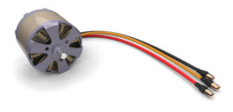 Electric motor for RC models Stock Images