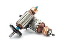 Electric motor rotor isolated. White background royalty free stock image