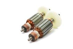 Electric motor rotor isolated. White background stock image