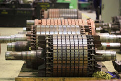 The electric motor rotor of stock. Repair royalty free stock photography