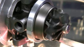 Electric motor spins fast and stops Stock Images